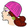 Vector clipart: Woman's face