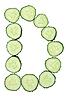 Vegetable Alphabet of chopped cucumber - letter D   Stock Foto