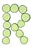 ID 3067283 | Alfabet warzyw posiekane ogórka - litera R | Foto stockowe wysokiej rozdzielczości | KLIPARTO