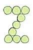 Vegetable Alphabet of chopped cucumber - letter Z   Stock Foto