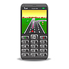 Vector clipart: mobile phone with GPS and street map
