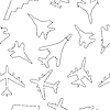 Seamless pattern military aircraft