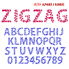 Vector clipart: ornamental zigzag alphabet
