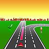Векторный клипарт: Карта навигатора GPS улицах города с признаками