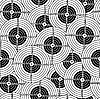 Vector clipart: Seamless pattern black target