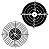 Vector clipart: Set targets for practical pistol shooting