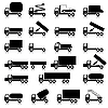 Set of icons - transportation symbols | Stock Vector Graphics