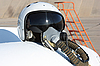 Photo 300 DPI: Protective helmet of the pilot