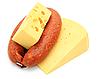 新鲜的香肠,奶酪   免版税照片