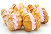 ID 3068665 | Żółte ciasteczka z różowym nadzieniem | Foto stockowe wysokiej rozdzielczości | KLIPARTO