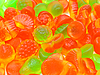 Fruit multi-colored candies | Stock Foto