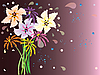 Vektor Cliparts: floral Hintergrund mit Phantasie Blumen