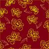 Vektor Cliparts: Nahtloses Pattern mit Blumen und Blätter