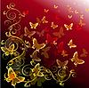 Vektor Cliparts: abstrakter bunter Hintergrund mit Schmetterlingen