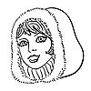 Vector clipart: Woman`s face