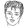 Vector clipart: Man`s face