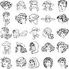 ID 3068973 | Gesichter von Frauen | Stock Vektorgrafik | CLIPARTO