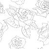 Векторный клипарт: Бесшовный фон с красивыми цветами