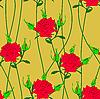 Векторный клипарт: Бесшовный фон с цветком розы.