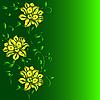 Векторный клипарт: рисованной фон с цветком фантазии