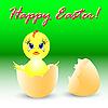 Векторный клипарт: Пасхальный праздник с курицей