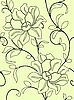 Векторный клипарт: Бесшовный фон с цветами и листьями