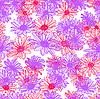 Векторный клипарт: цветок бесшовные фоном