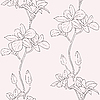 Vector clipart: seamless background with orchids