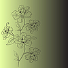 Vector clipart: background with fantasy flower