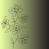 Векторный клипарт: фон с цветком фантазии