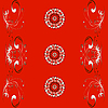Vector clipart: red ornamental background