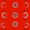 Векторный клипарт: красный узор-орнамент