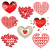 Vector clipart: set of Red Hearts