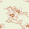 Vector clipart: Seamless pattern with orchid flowers