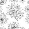 Vektor Cliparts: floralen Tapeten mit einem Satz von verschiedenen Blumen.
