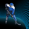 Векторный клипарт: Хоккейный игрок