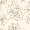 Vector clipart: floral pattern with set of different flowers