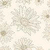 Vektor Cliparts: floralen Tapeten mit einem Satz von verschiedenen Blumen