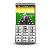 Vector clipart: mobile phones with GPS and street map