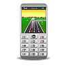 Vektor Cliparts: Handy mit GPS und Straßenkarte