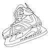 Vector clipart: Men's hockey skates