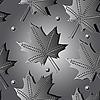 Векторный клипарт: Бесшовный осенний фон с листьями