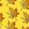 Vector clipart: seamless autumn pattern with leaves