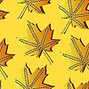 Vektor Cliparts: nahtloses Herbst-Muster mit Blättern