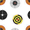 Vector clipart: Seamless background of Targets