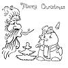 Vector clipart: Santa Claus and snowman