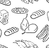 Векторный клипарт: бесшовных шаблонов рисованной питание