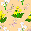 Vector clipart: Seamless background with flower .