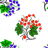 Vector clipart: Seamless background with currants