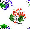 Векторный клипарт: Бесшовный фон с ягодами смородины